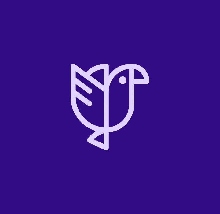 logo kaoa fond violet